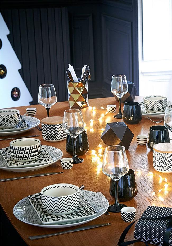Decorar la mesa para Navidad