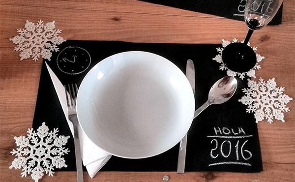 Fin de Año, decoración de la mesa