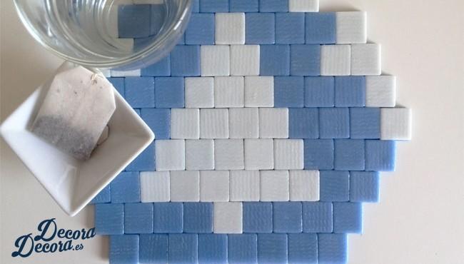 Salvamanteles mosaico hecho a mano