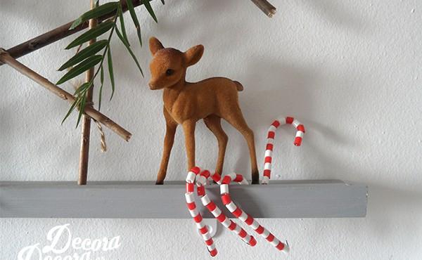 Bastones de Navidad con Hama Beads
