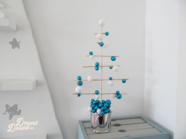 Árbol de Navidad con palillos