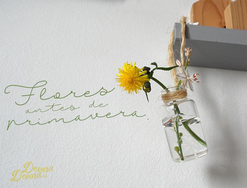 Decorar con flores antes de primavera