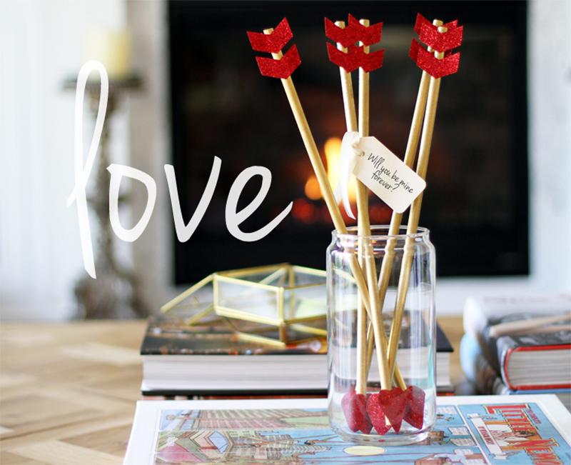 Flechas para decorar en San Valentín