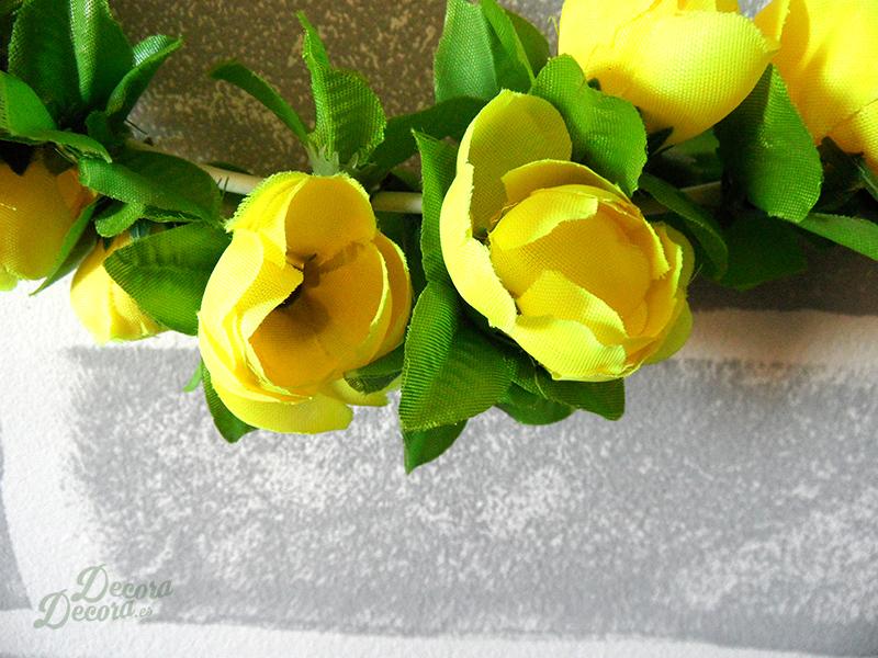 Flores en corona para primavera