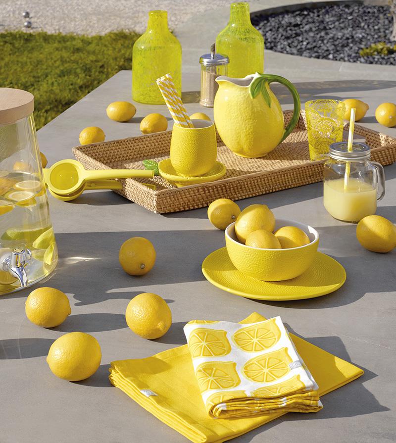 Decoración mesa limón
