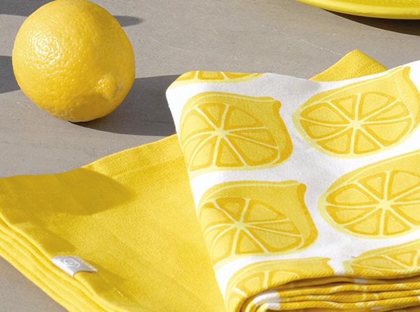 Mesa decoración limón