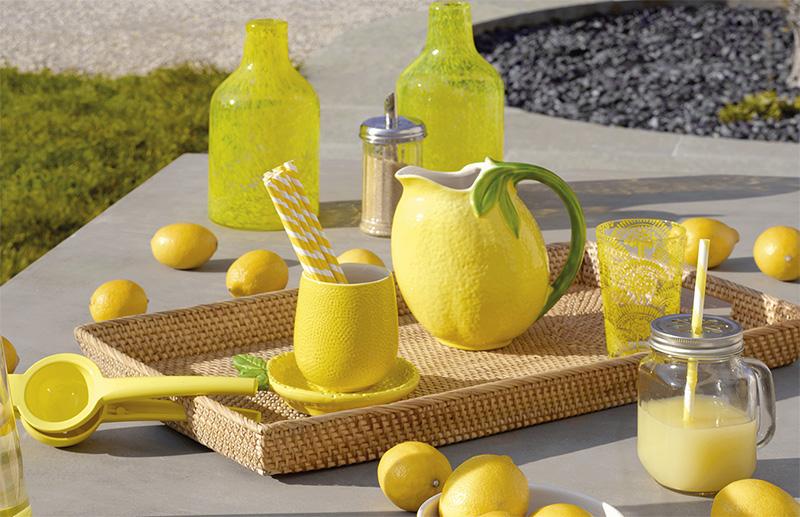 Limón para decorar la mesa