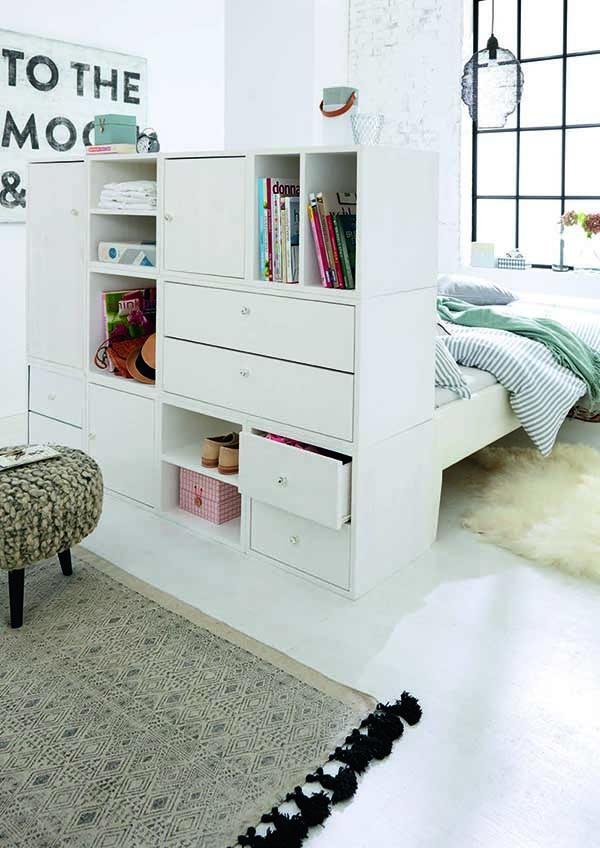 Módulos en el dormitorio