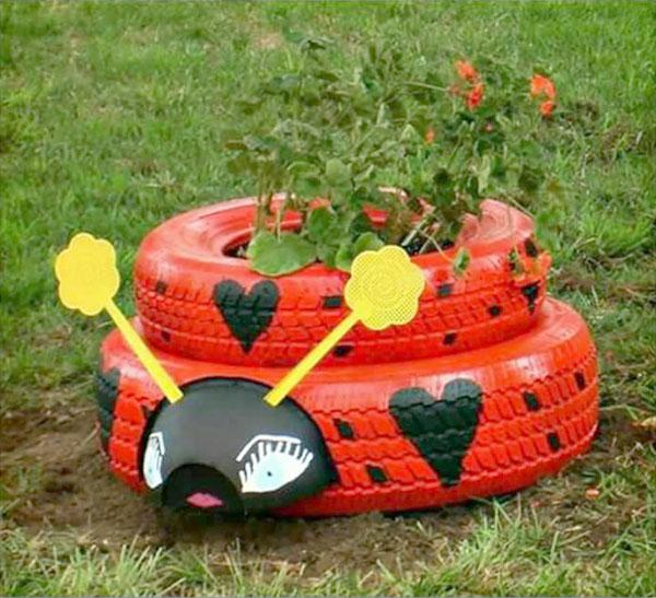 Jardín ruedas