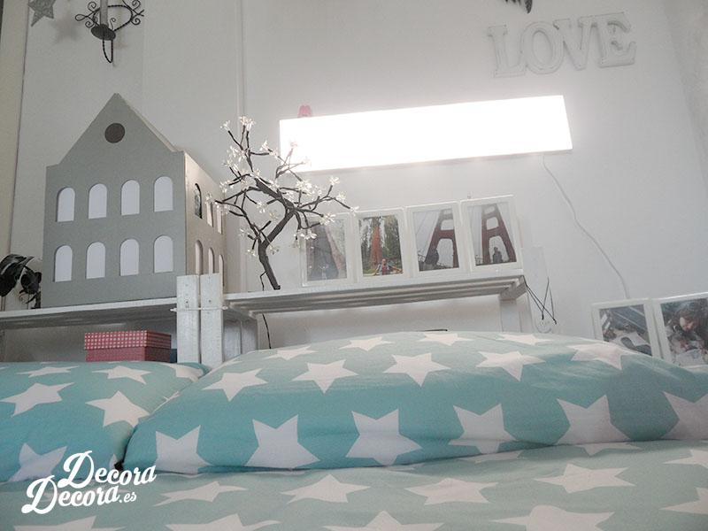 Iluminación en la cama
