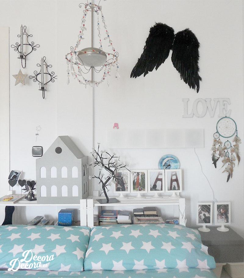 Plafones de luz en el dormitorio