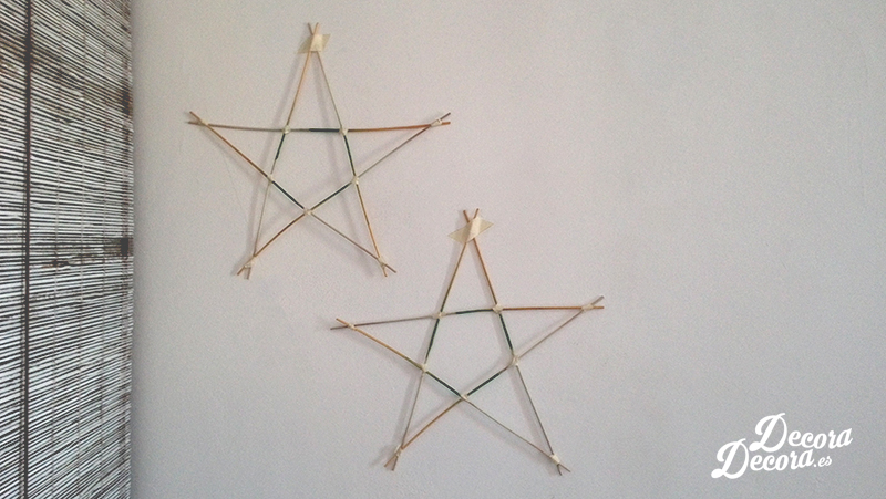 Estrellas reciclando mikados