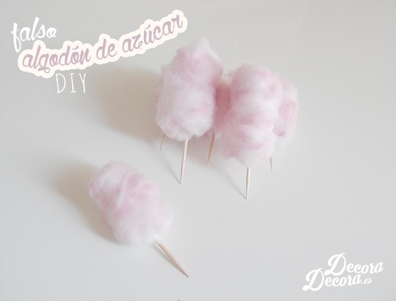 Falso algodón de azúcar para decorar