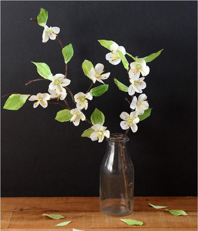 Papel flores