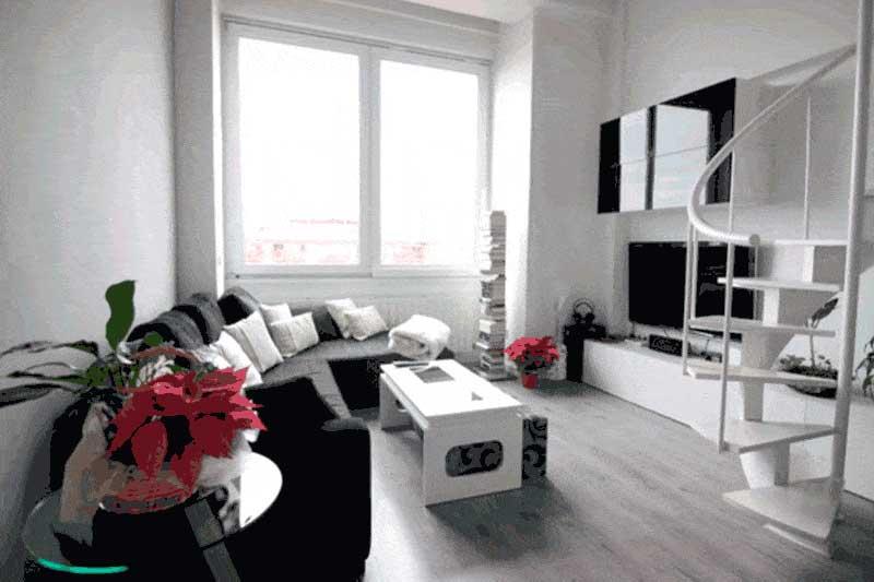 Una reforma y decoración con blanco y negro