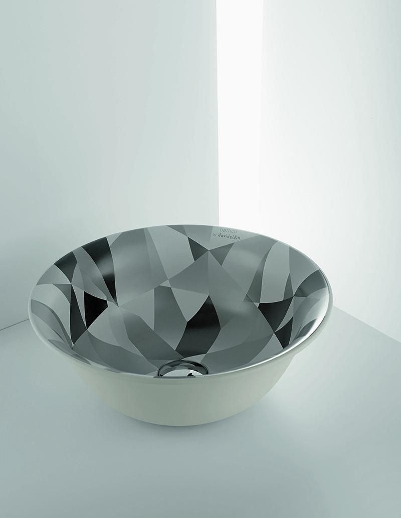 Estampado diamante en el lavabo
