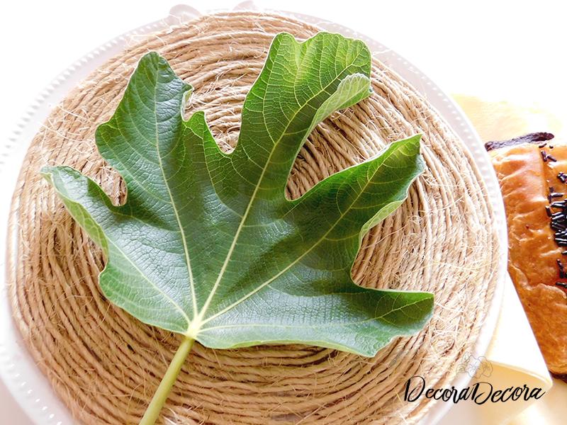 Decorar con hojas de higuera