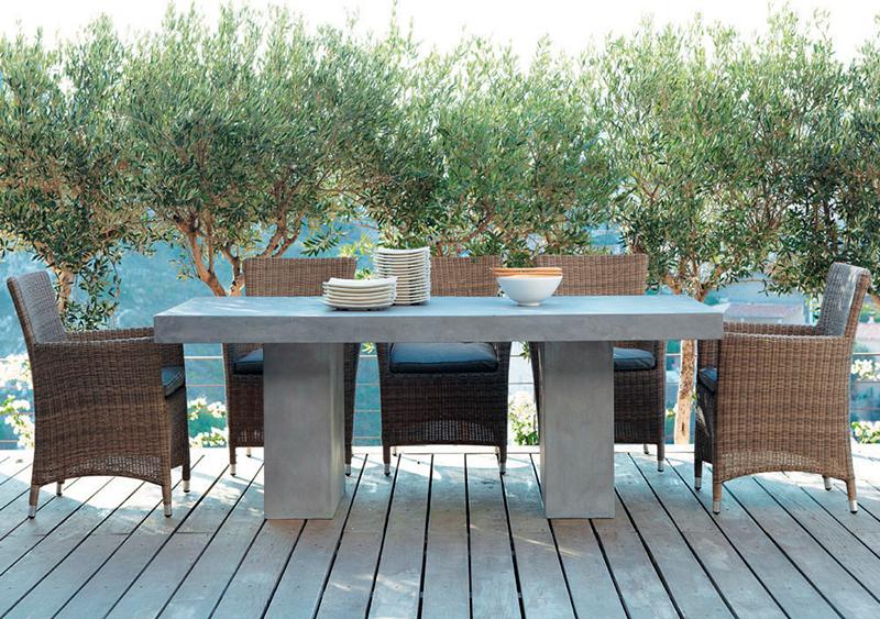 Mesas de hormigón o cemento