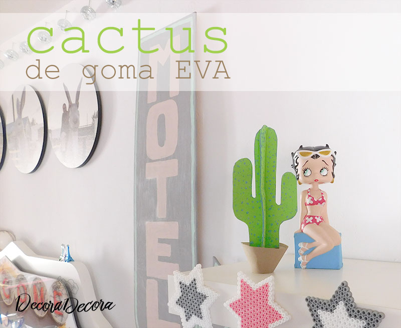 Cactus de goma EVA