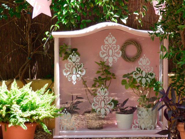 Cristalera jardín