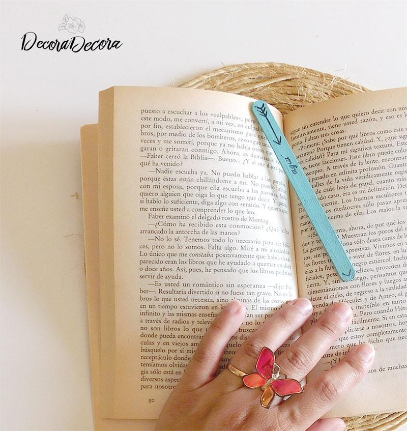 Puntos de libro con palos de helado
