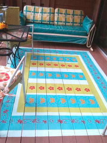Pintar una alfombra en el exterior