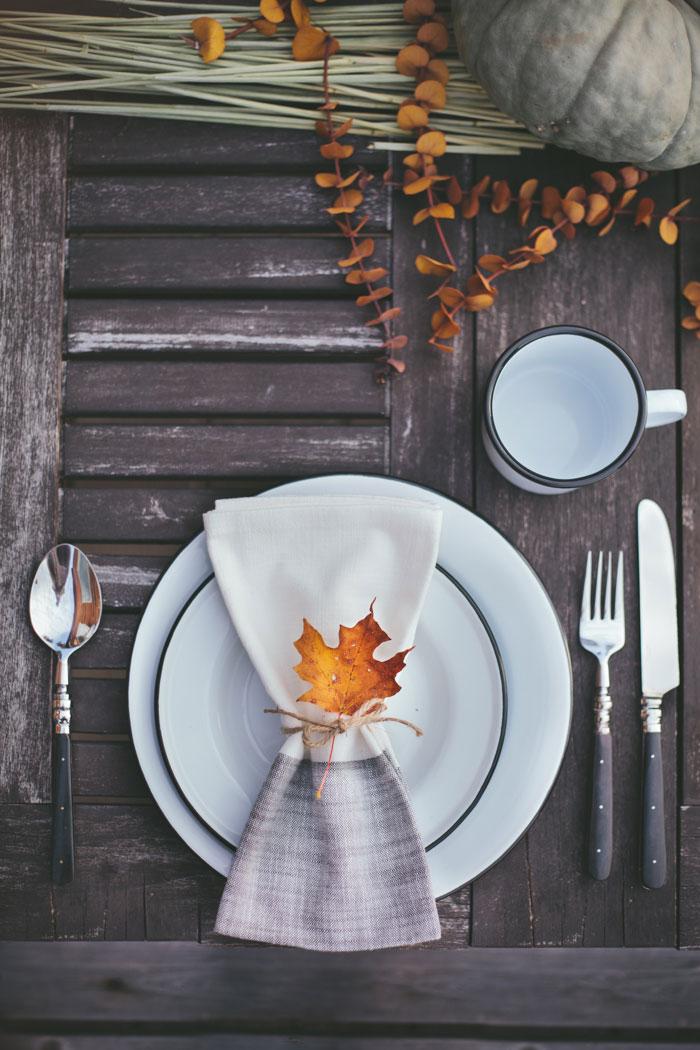 Mesa de otoño para exterior
