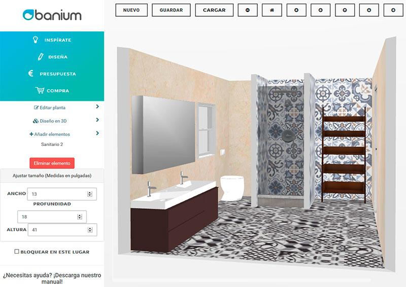 Reformar el baño en 3D