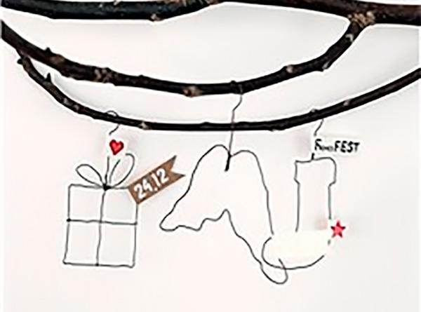 Adonos de Navidad con alambre