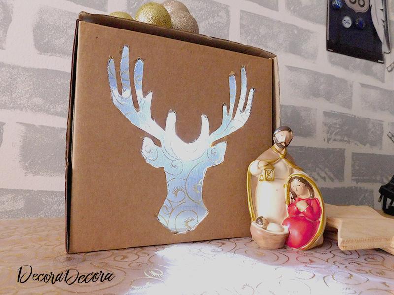 Iluminación de Navidad casera