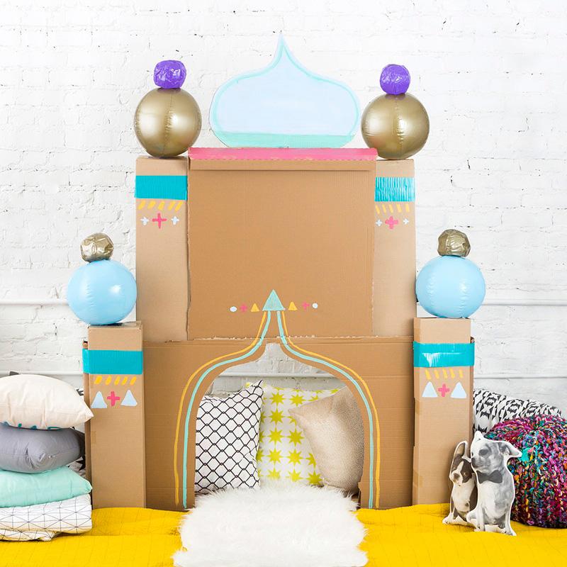 Casita para niños con forma de palacio