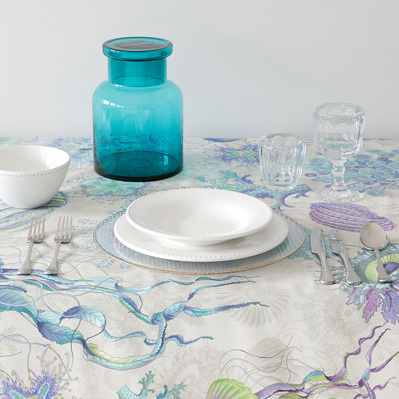 Decoración fondo marino para la mesa