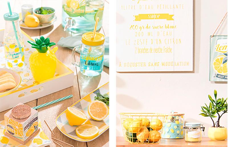 Decorar con menta y limón