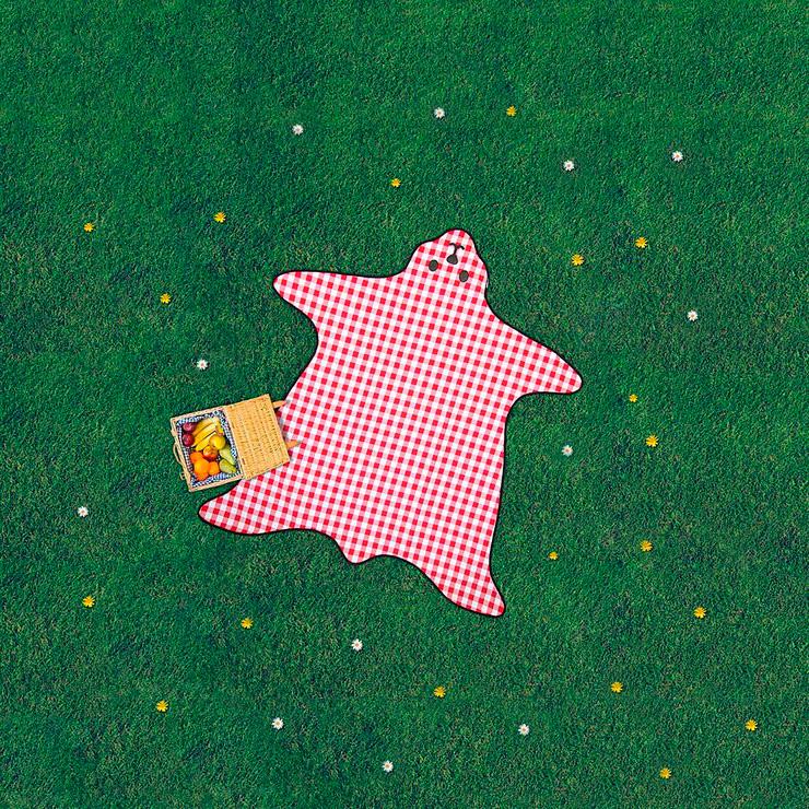 Manta de picnic con forma de oso