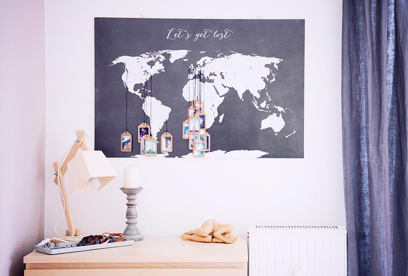 Mapa de viajes para decorar