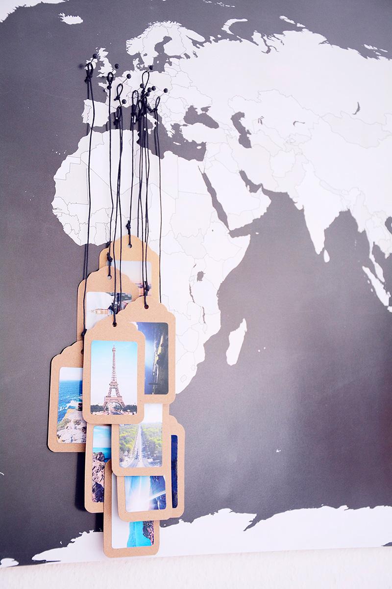 Decorar con mapas de viajes