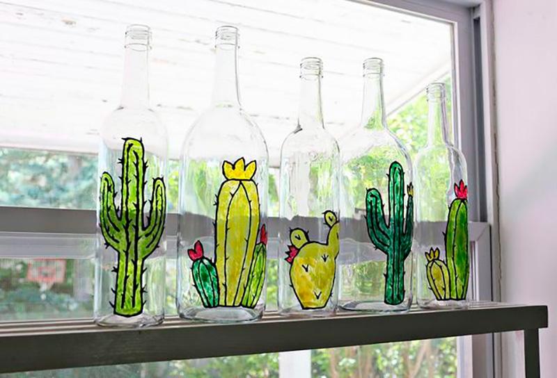 Reciclar botellas de cristal