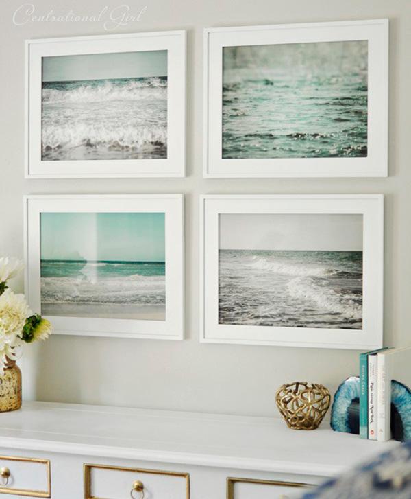 Decorar con fotos de playa