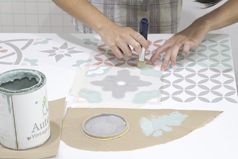 Pintar baldosas hidráulicas