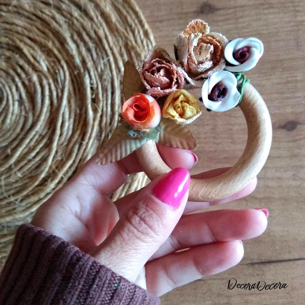 Corona flores hecha a mano